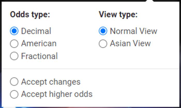 Cbet американские, десятичные и дробные коэффициенты, с нормальным и азиатским видом