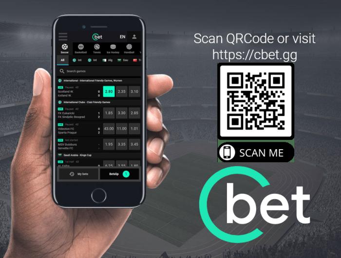 Мобильный сайт Cbet - загрузите приложение для систем Android и iOS - используйте qrcode
